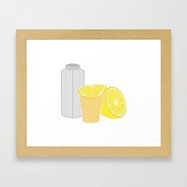 Salt, lemon and tequila Framed Art Print