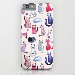 Cats in ink iPhone Case