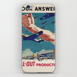 Vintage poster - All-Out Production iPhone Skin