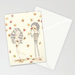O Outono chegou com pézinhos de lã Stationery Cards