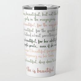 She Was Beautiful By F. Scott Fitzgerald 3 #minimalism #poem Travel Mug