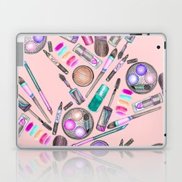Girly Girl Hand Painted Watercolor Makeup on Pink Laptop & iPad Skin