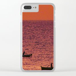 Sicilian sunrise Clear iPhone Case