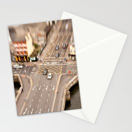 Dublin city center aerial view Stationery Cards