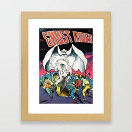 The Ghost Rider Vintage Golden Age Comic Art Framed Art Print