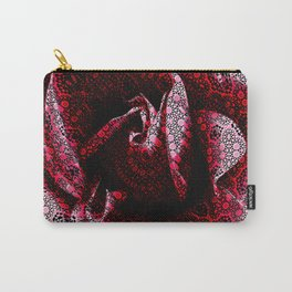 Rose Textured with Digital Lace Pattern Carry-All Pouch