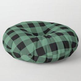 Green Flannel Floor Pillow
