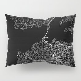 Auckland Black Map Pillow Sham