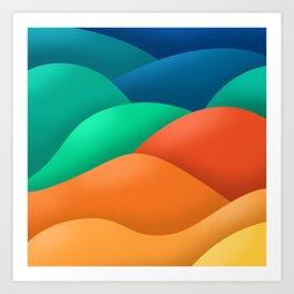 rainbow dunes Art Print