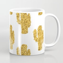 Cactus | Rustic Gold | Southwest Decor Pattern Coffee Mug