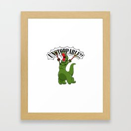 Unstoppable T-Rex Framed Art Print