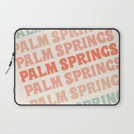 Palm Springs typography trendy retro vintage style 70s minimal art socal cali vibes Laptop Sleeve