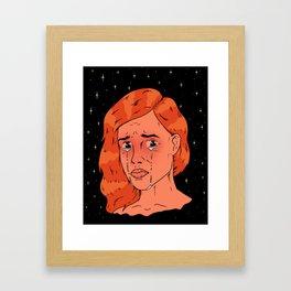Stars die when girls cry Framed Art Print