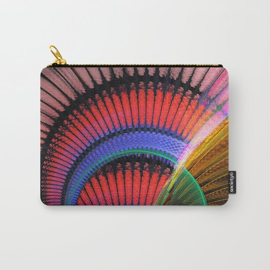 Groovy textured colourful abstract Carry-All Pouch