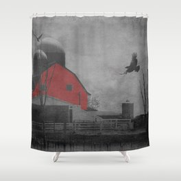 Rustic Red Barn A659 Shower Curtain