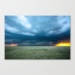 Regeneration - Storm Strengthens With Amazing Color in Texas Canvas Print