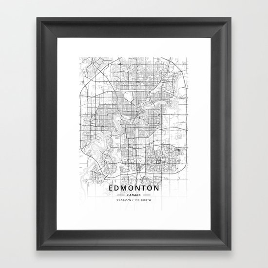 Edmonton, Canada - Light Map by designermapart