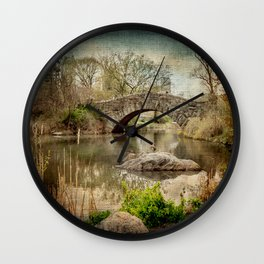 Central Park Bridge Wall Clock