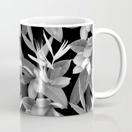 Mixed Paradise Tropicals in Black and White Coffee Mug