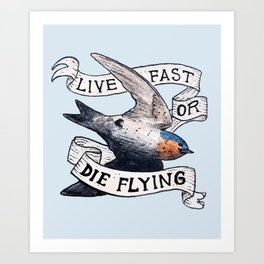 Bird no. 119: Speed Demon Art Print