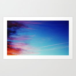 Colorful Sunset Clouds Art Print