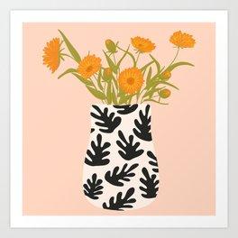 Vase no. 28 with Heliopsis Art Print