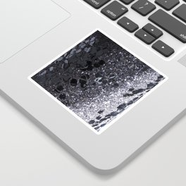 Black and Gray Glitter Bomb Sticker