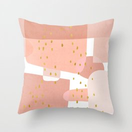 Conglomeration in Pink Throw Pillow
