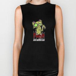 Marvin the Zombie Cat Biker Tank