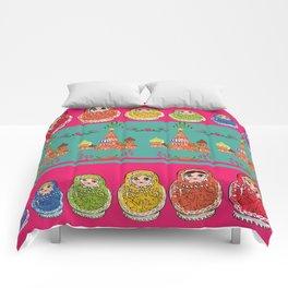 Russian Rainbow Matryoshka Comforters
