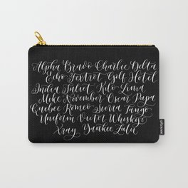 Phonetic Alphabet (UK) Carry-All Pouch