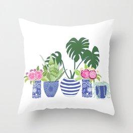 Chinoiserie Cactus Throw Pillow