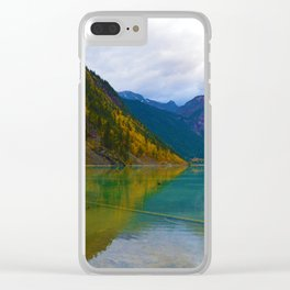 Kinney Lake in Mount Robson Provincial Park, BC / Canada Clear iPhone Case