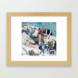 Pow pow Powder Framed Art Print