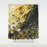 bees Shower Curtains featuring Bees! by Creative Lore