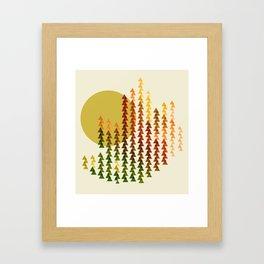 colorful forest Framed Art Print