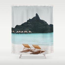 Bora Bora, French Polynesia Travel Artwork Shower Curtain