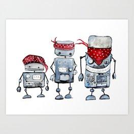Robot gang Art Print