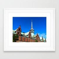 copenhagen Framed Art Prints featuring Copenhagen by Erin Halvey