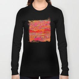 Firewalk Abstract Art Collage Long Sleeve T-shirt