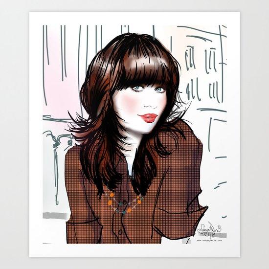 Zooey Deschanel Art Print