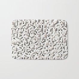 Pattern of white cylinders Bath Mat