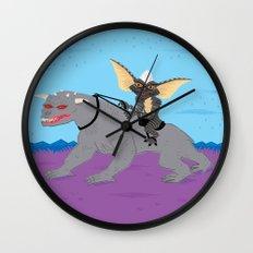 The Halloween Series - Stripe Rides Zuul Wall Clock