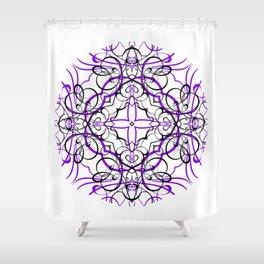VIOLET SACRED GEOMETRY Shower Curtain