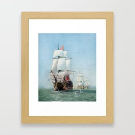 First Journey Of The HMS Victory Framed Art Print