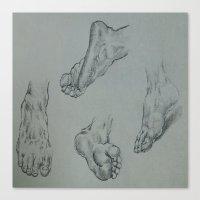feet Canvas Prints featuring Feet by Esteban Garza