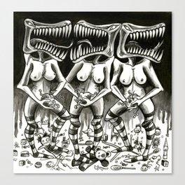 Hormonal Horror  Canvas Print