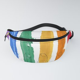 Rainbow Lipstick Stripes Fanny Pack