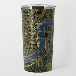New Orleans Louisiana 1932 GREEN AND BLUE VINTAGE OLD MAP Travel Mug