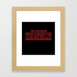 Kirby Krackle - Upside Down Logo Framed Art Print
